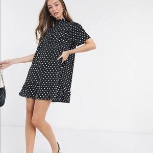 AX Paris high neck smock dress in spot (50)